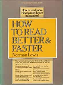 how to read better and faster by norman lewis ebook